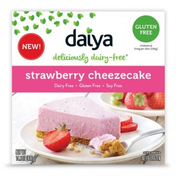 Dairy-free Daiya Strawberry Cheesecake